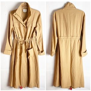 New VINCE Trench Coat/Trench Style Utility Dress L
